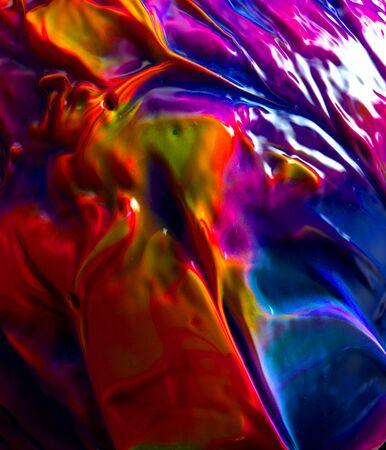 blu e rosso e viola Astratto colorato lunga esposizione scintillante sfondo di luci e bellissimo design Archivio Fotografico