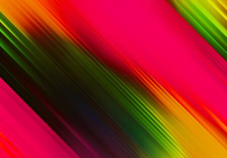 pink and green and yellow simple tilted parallel lines background and pattern abstract vibrant geometric rainbow background and pattern Stock fotó