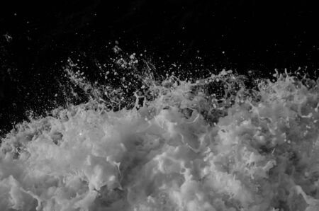 many water wave and Black and white grunge texture and Abstract Vintage dirty background