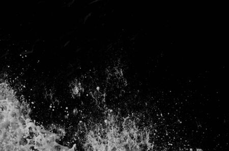 a little water wave and Black and white grunge texture and Abstract Vintage dirty background