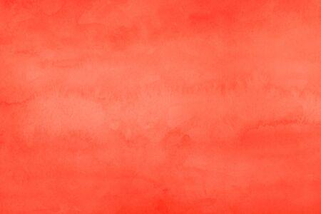 dunkelorange Aquarell Textur Abstrakter Grunge-Hintergrund mit beunruhigter gealterter Textur und Pinselstrich Malerei