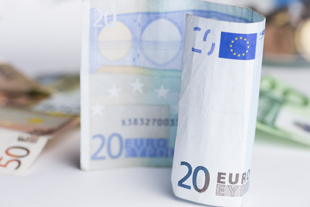 Euro banknote of 20