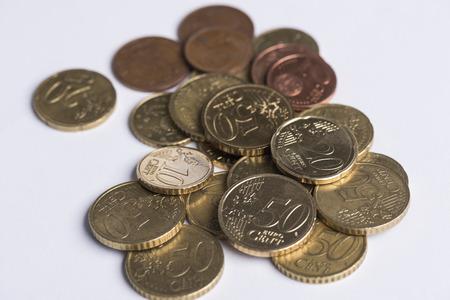 Pile of eurocoins Stock Photo