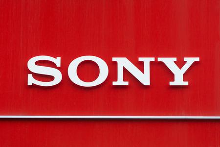 Signboard of Sony logo