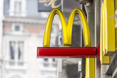 mcdonalds: Mc Donalds signpost Editorial