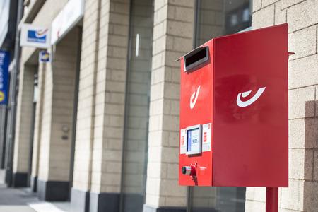 Postbus-box van Bpost Belgium in Hoboken Redactioneel