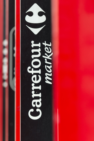 carrefour market: Carrefour market logo Editorial