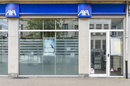 Axa bank in Antwerp Editorial
