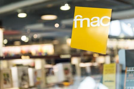 fnac Belgisch winkellogo op winkel in Antwerpen