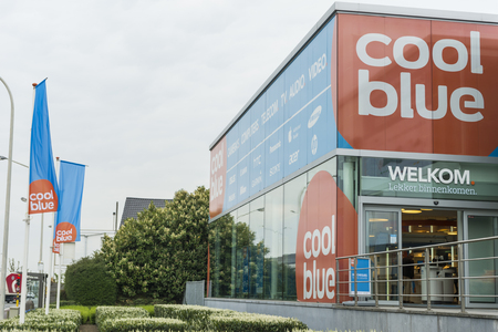electronica: Coolblue store and logo on the A12 Boomsesteenweg in Antwerp