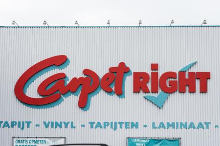Tapijt juiste winkel en logo in Antwerpen Redactioneel