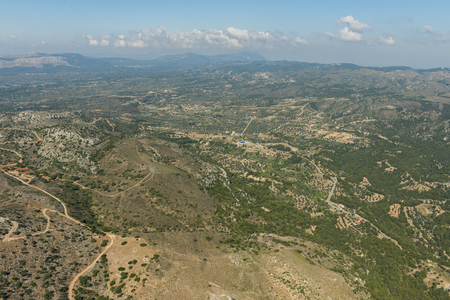 Aerial image of the inland on island of Rhodes Reklamní fotografie