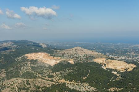 Aerial image of mine near Kallithea