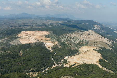 Aerial image of mine near Kallithea  Reklamní fotografie