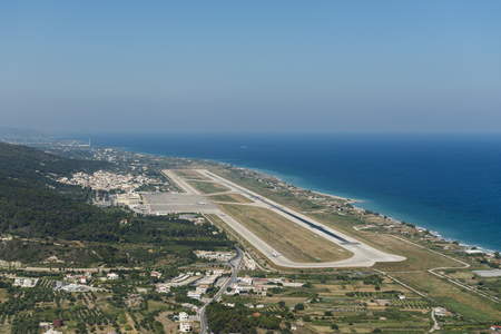 Aerial view on the Rhodes International Airport