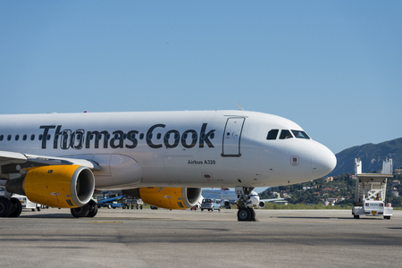 Thomas Cook A320 Airbus at the airport of Corfu