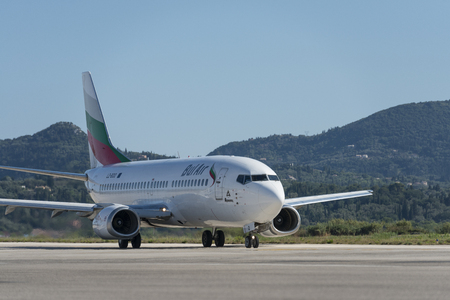 Bul air Boeing 737 with registration LZ-BOO at the Corfu airport Editöryel