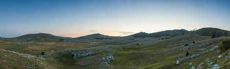 Rural landscape panorama with many rocks at Biogradska gora nationalni park Stok Fotoğraf