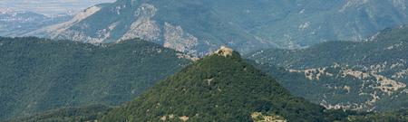 Aerial image of chapel of Chiesa dellImmacolata near Patrica, Province of Frosinone