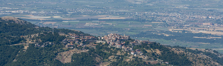 Aerial image panorama of Rocca Massima in Province of Latina