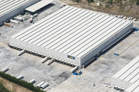 Aerial image of GLS General Logistics Systems B.V building warehouse near Rome in Italy