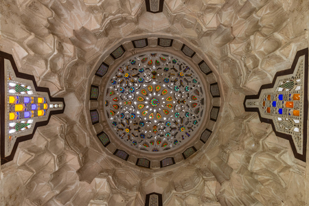 colorful ceiling at Bayt Al-Suhaymi (