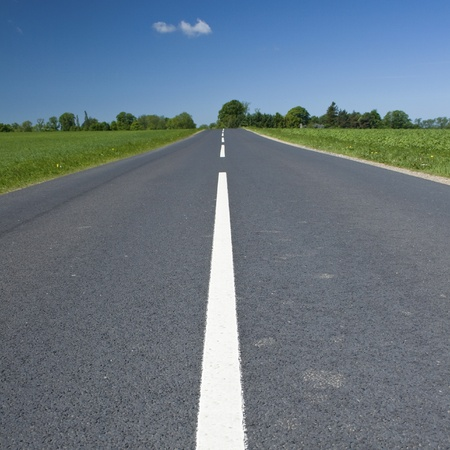 Road in Countryside. Stock Photo