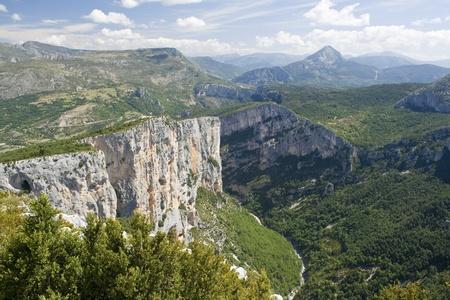 Gorges du Verdun, view France.