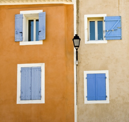 French village, facade in Provence. Stock Photo