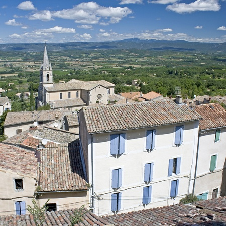 Bonnieux, french village in Provence. France Stock Photo