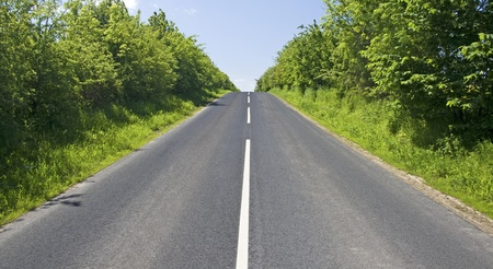 Road, countryside. Stock Photo