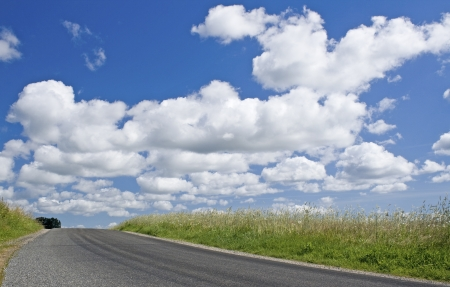 Road in Countryside, with sky
