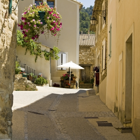Village french, street in Provence  France