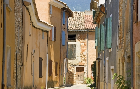 French Village, street typical Provence. france. photo