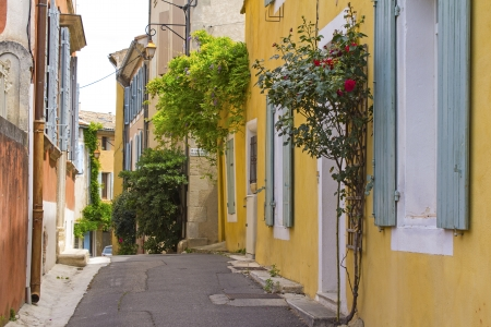French village, street in Provence  France  Stock Photo