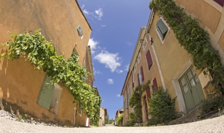 French village, street in town from Provence  France  Stock Photo