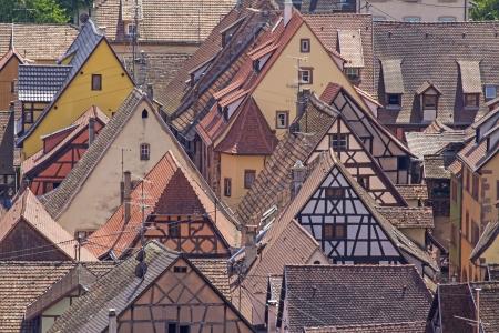 haut: Alsace village  Riquewhir  France