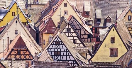 Alsace, Riquewhir village  France  Stock Photo