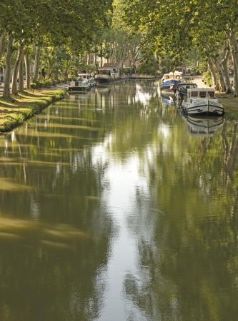 Canal du Midi, in morning light  France