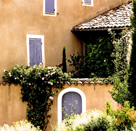 typical: French village, from town in Provence  France