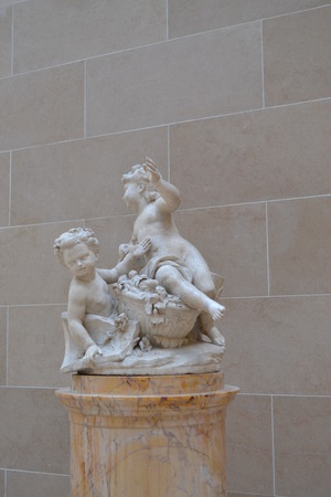 masonary: Children Sculpture in Cour Marly
