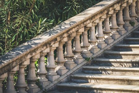 Stone balustrade in neoclassical style