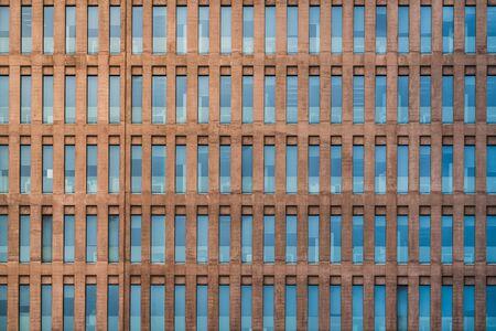 Uniform facade of an office building 免版税图像