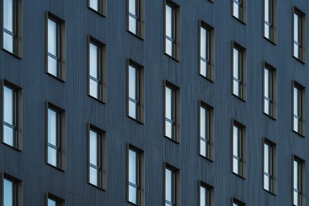 Rows of windows of a residential building 免版税图像