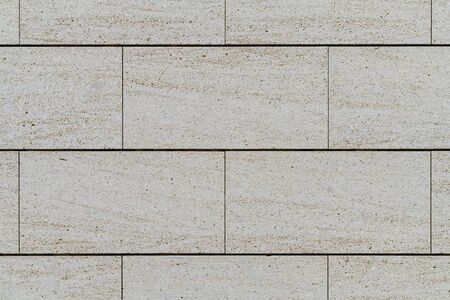 Wall built with big blocks of Travertine marble