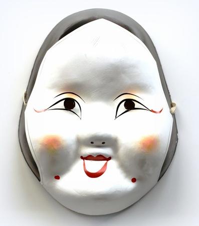 White Japanese mask photo