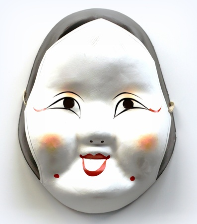 White Japanese mask
