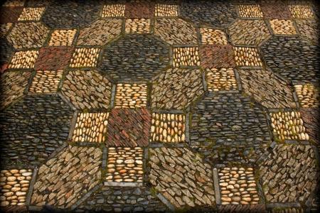 mosaic floor: Mosaic floor
