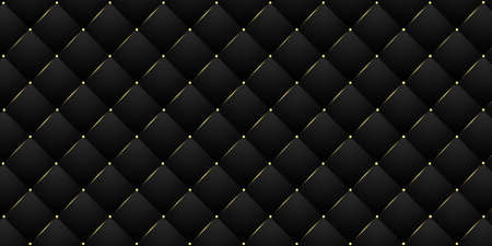Seamless 3D Rendered Royal Black and Golden Pattern of Cloth and Leather. Modern Abstract luxury backdrop
