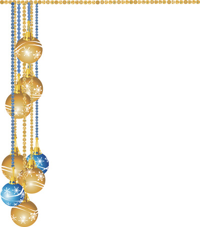 Cascade of illustrated gemstones and pearls adorned with Christmas snowflake ornaments.